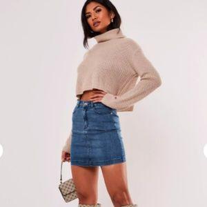 Missguided Super Stretch Mini Denim Skirt